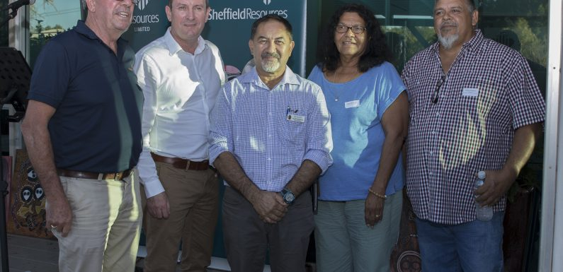 Hon Mark McGowan, Premier, Opens Sheffield Resources Derby Office